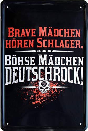 Brave Meisjes horen bat - Bohese meisje Duitse rok 20x30 metalen bord 296