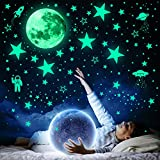 1078 PCS Glow in The Dark Stars For Ceiling, Glowing Stars For Ceiling Planets, Stars Wall Decals, Solar System Galaxy Space Nursery Wall Stickers Rocket Astronaut Kids Girls Boys Room Decorations for Bedroom