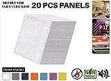 Acepunch Panel Insonorizado Aislamiento Absorción Acústico BLANCO 12 x12 inches 20 piezas AP1093