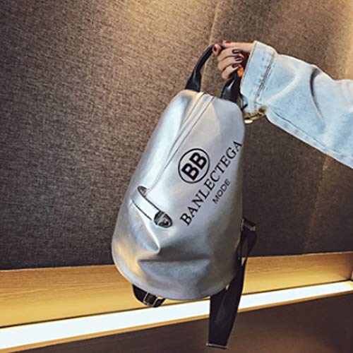 No-logo Backpack, Large Capacity, Beautiful and Practical, Can go Out or Carry in School (Color : B)