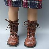 Uteruik Puppenschuhe aus Leder mit Schnürsenkel für 46 cm Mädchen-Puppenschuhe Outfits...
