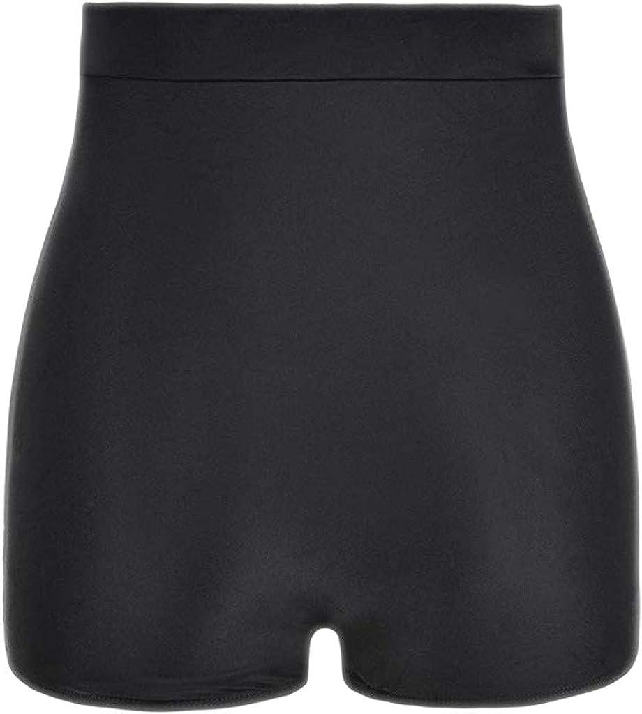 Fanteecy Bikini Bottoms for Women,Women's Super High Waist Swim Shorts Shirred Tummy Control Swimwear Tankini Bikini Bottoms Black