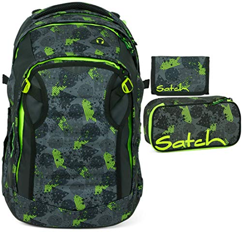 Satch Match Off Road 3er Set Schulrucksack, Schlamperbox & Geldbeutel