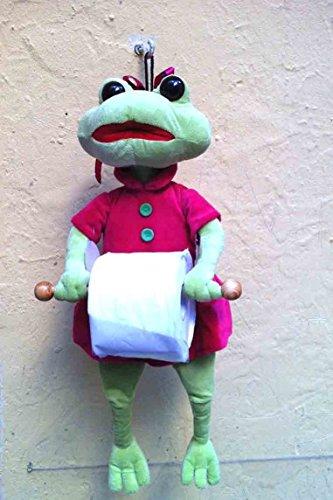 Dérouleur papier toilette grenouille avec réserve
