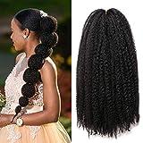1 Pack 18 Inch Marley Braiding Hair Cuban Twists Marley Twist Braids Hair Long Afro Kinky Marley Hair for Butterfly Locs Crochet Hair(1B#)
