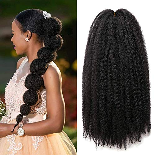 1 Pack 18 Inch Marley Braiding Hair Twists Marley Twist Braids Hair Long Afro Kinky Marley Hair for Butterfly Locs Crochet Hair(1B#)