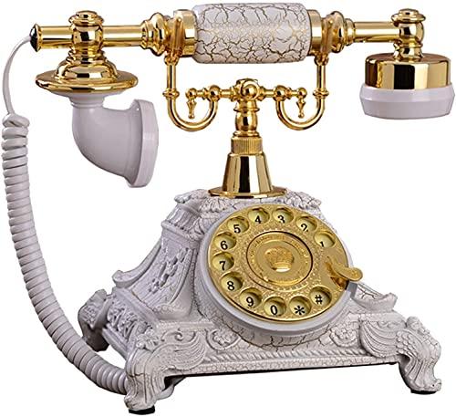 Teléfono antiguo Home Home Office Decoration European Classic Antique Landline Teléfono Dial Rotary, Función de Redial con Auriculares Colgantes Para Oficina de Hotel Oficina Teléfono Decorativo