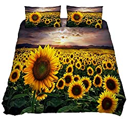 beautiful sunflowers bedding set