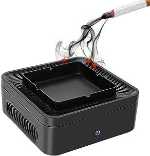 Cenicero sin humo con purificador de aire, filtro de carbón activo filtrante PM2,5 filtro de 99,97% polvo, polen, humo y o...