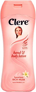 CLERE Hand and Body Lotion Luxurious Rich Musk (With Vitamin E+A) 13.5 Oz (400 ML)