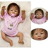 ZIYIUI 20 Zoll Reborn Babys mädchen 50cm lebensecht weichkörper silikon Puppe Girl Wie EIN echtes...