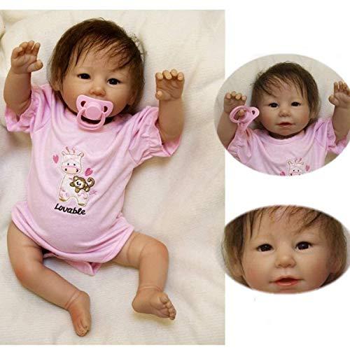 ZIYIUI 20 Zoll Reborn Babys mädchen 50cm lebensecht weichkörper silikon Puppe Girl Wie EIN echtes babypuppe Magnetisches Spielzeug Reborn Babys Puppe Xmas Gifts(öffnen Augen)
