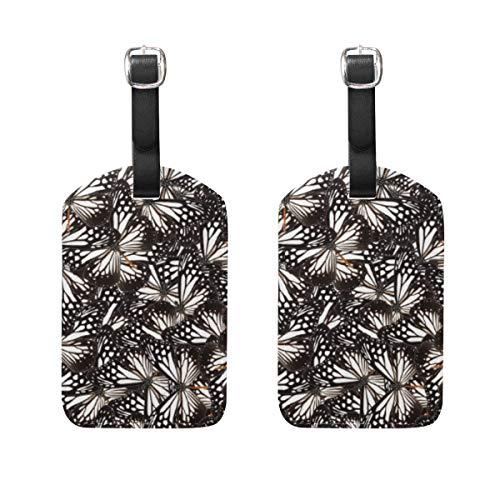 VORMOR Gepäckanhänger (Sortiert, 2 PK),Mischen Sie Tawny Mime Butterfly Mess Background, Gepäckanhänger, Kofferanhänger für Rucksäcke