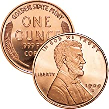 1 oz .999 Pure Copper Round/Challenge Coin (Lincoln Bust Cent)