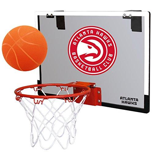 NBA Atlanta Hawks Game On Indoor Basketball Hoop & Ball Set,...