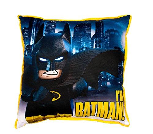 LEGO BATMAN MOVIE Hero' Square Cushion, 100% Polyester, Multicolour, Full
