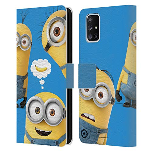 Head Case Designs Officially Licensed Despicable Me Banana Funny Minions Leather Book Wallet Case Cover Compatible with Samsung Galaxy A51 5G (2020)