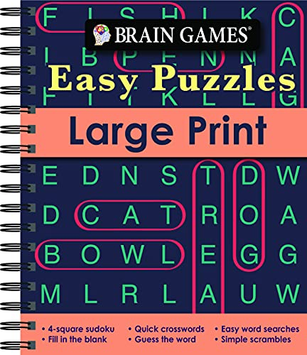 Brain Games - Easy Puzzles - Large Print