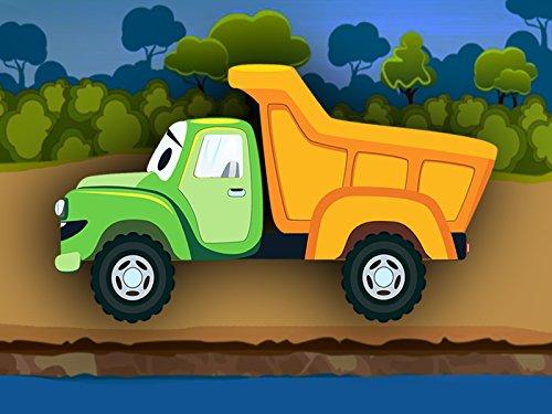Grüner Lastwagen #NAME? für Kinder