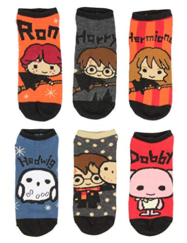 Harry Potter Chibi Character Designs 6 Pack Men And Women Ankle Socks