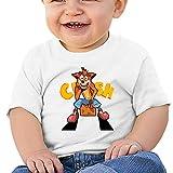 maichenxuan Crash Bandicoot - Camiseta de manga corta para bebé, cómoda y transpirable, color blanco