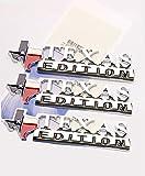Yoaoo 3x OEM Chrometexas Edition Emblems Badge for ford F150 1500 Sierra Silverado Gmc Glossy