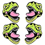 Neva Nude Sexy Trexy T Rex Dinosaur Nipztix Pasties Nipple Covers for Festivals, Raves, Parties, Lingerie and More, Medical Grade Adhesive, Waterproof and Sweatproof, Made in USA (2 Pack)
