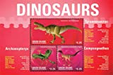 2014 Dinosaurs, Tyrannosaurus, Archaeopteryx, Compsognathus, Collectible Sheet of 3 Stamps, Mint Never Hinged