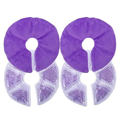 Almohadillas de Lactancia, 2 Piezas Almohadillas Terapia Mama Almohadillas Térmicas de Gel...
