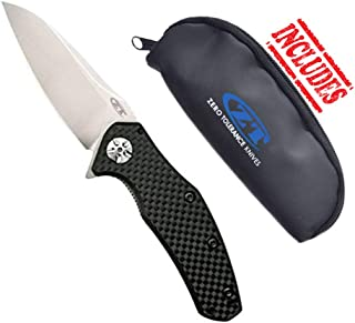 Zero Tolerance 0770CF Carbon Fiber Assisted Opening Folding Knife w/ZT Storage Pouch