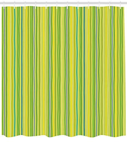 Nyngei deverde Lima Bandas Verticales en Tonos Pastel Líneas a Rayas Figuras geométricas de impresión Suave Juegode de con Amarillo Verde