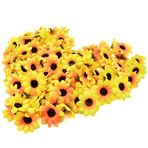 100x Kuenstliche Gerbera Blumen Koepfe...