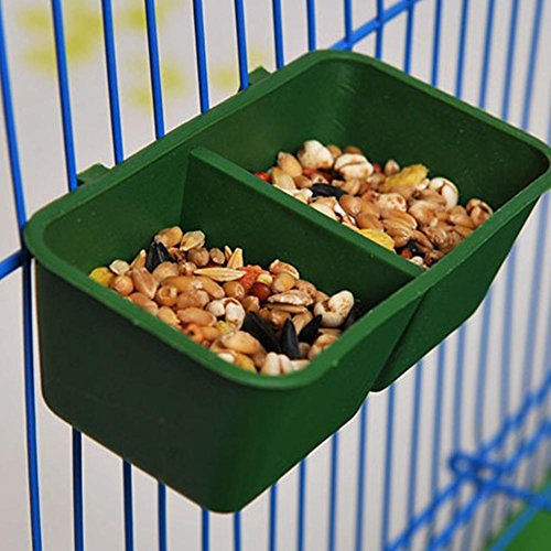 Easy-topbuy Futternapf für Vogelkäfige, für Körner und Wasser, 6 Paar Vogel Doppel Fach Krippe Papagei Hamster Double Compartment Futternapf Futternapf