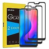 SPARIN [2-Pack Cristal Templado Xiaomi Mi A2 Lite, Full-Cover Protector Pantalla Xiaomi Mi A2 Lite[Sin Burbujas] [Anti-Arañazos] [Dureza 9H] [Anti-Huella] [Ajuste Vridrio Templado