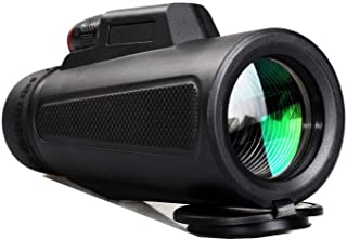 10X42 Monocular Telescope, High Power BAK4 Prism FMC Lens Monocular Telescope Compact with Night Vision Portable Life Wate...