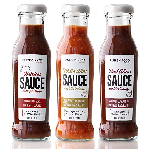 Ultimate Barbecue Glaze, Dip and Marinade Set from Pure Food...