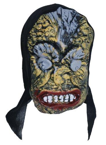 Zombie caoutchouc gris masque visage-JAUNE