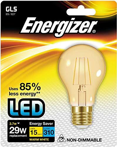 Energizer LED GLS Ampoule à économie d'énergie, Blanc chaud, E27, 11.6 W, Plastique, blanc chaud, 3.7 w, E27 3.7watts 240volts