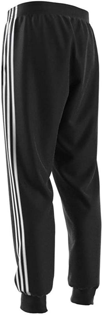 adidas Mens Essentials 3-Stripes Tapered Tricot Pants
