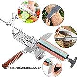 LADUO Messerschärfer, Messerschleifer Sharpemaker Professionelle Küchen- Messerschärfer Fixed-Winkel Sharpener mit 4 Schleifsteinen
