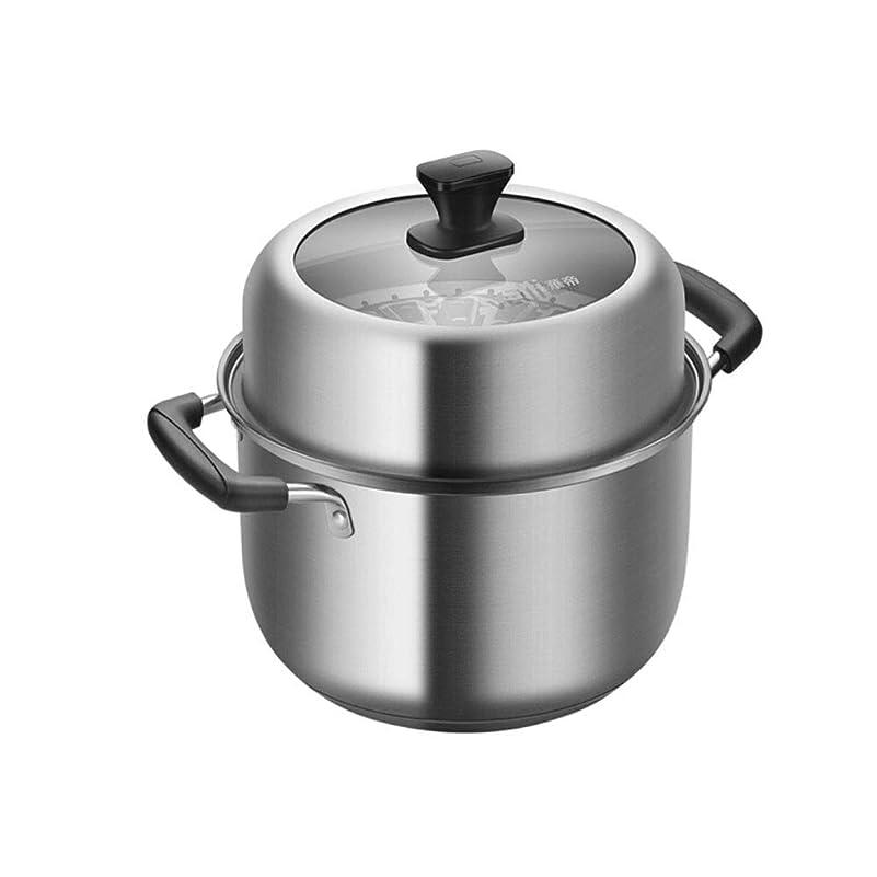 間違っている入学するドアWuhuizhenjingxiaobu スープ鍋、22 cm二層スチーマー、スープ鍋、304ステンレス鋼スープ汽船、多機能スープ鍋、高品質 食べ物を作るための最高の贈り物 (Size : 22CM)