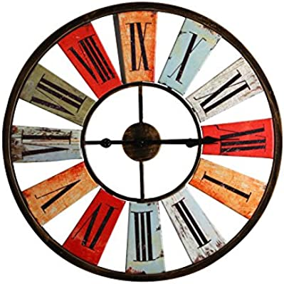 Imoerjia Retro European Gear Wall Clock Creative Living Machinery Exposed Industrial Wind Wall Clock Personalized Bedroom