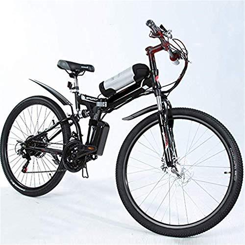 Mountain Bike Elettrico Ebikes Leggero Pieghevole 48 V 250 W Motore Bicicletta Uomo Donna Pedali E-Bike Assist Pedali Batteria al Litio Bici 26 Pollici Pneumatico Grasso Neve E con Freni A Disco