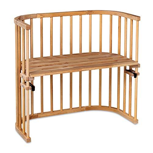 babybay Original Beistellbett aus massivem Buchenholz für Tag und Nacht I Kinderbett Höhe verstellbar & umweltfreundlich I mitwachsendes Babybett (Kernbuche geölt)