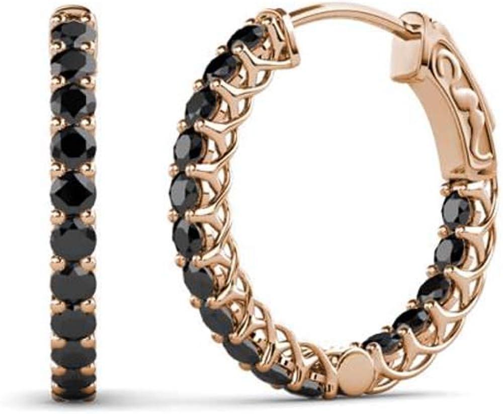 Under blast sales Beautiful 0.88Ct tw Round Cut Created Black Kansas City Mall Fashion CZ P Diamond