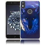bq Aquaris X5 Plus Passend Nacht Wolf Handy-Hülle Silikon