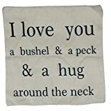 Grifri Kissenbezug I Love You and a Peck Personalisierte Baumwollmischung Leinen Dekokissen...