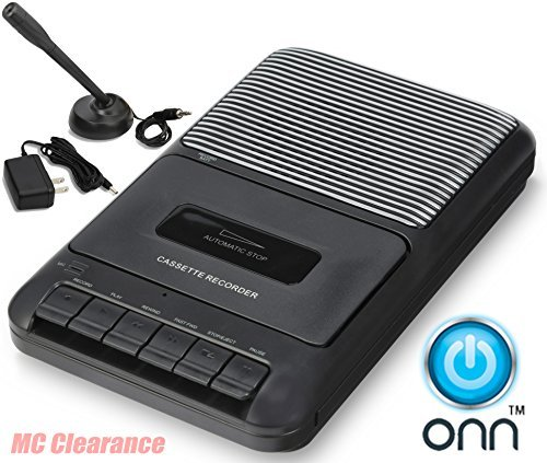 ONN Casette Recorder with Built in speaker and microphone ONA504 (Renewed)