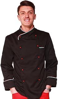 TCD GROUP Giacca da Cuoco Chef Colore Bordo