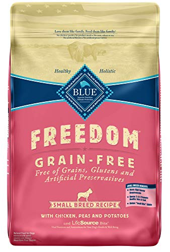 Blue Buffalo Freedom Grain Free Recipe for Dog, Small Breed Chicken Recipe, 11 lb